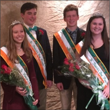 Maddie Mitchell and Drew Newcomb, Named Mr. & Miss Shamrock