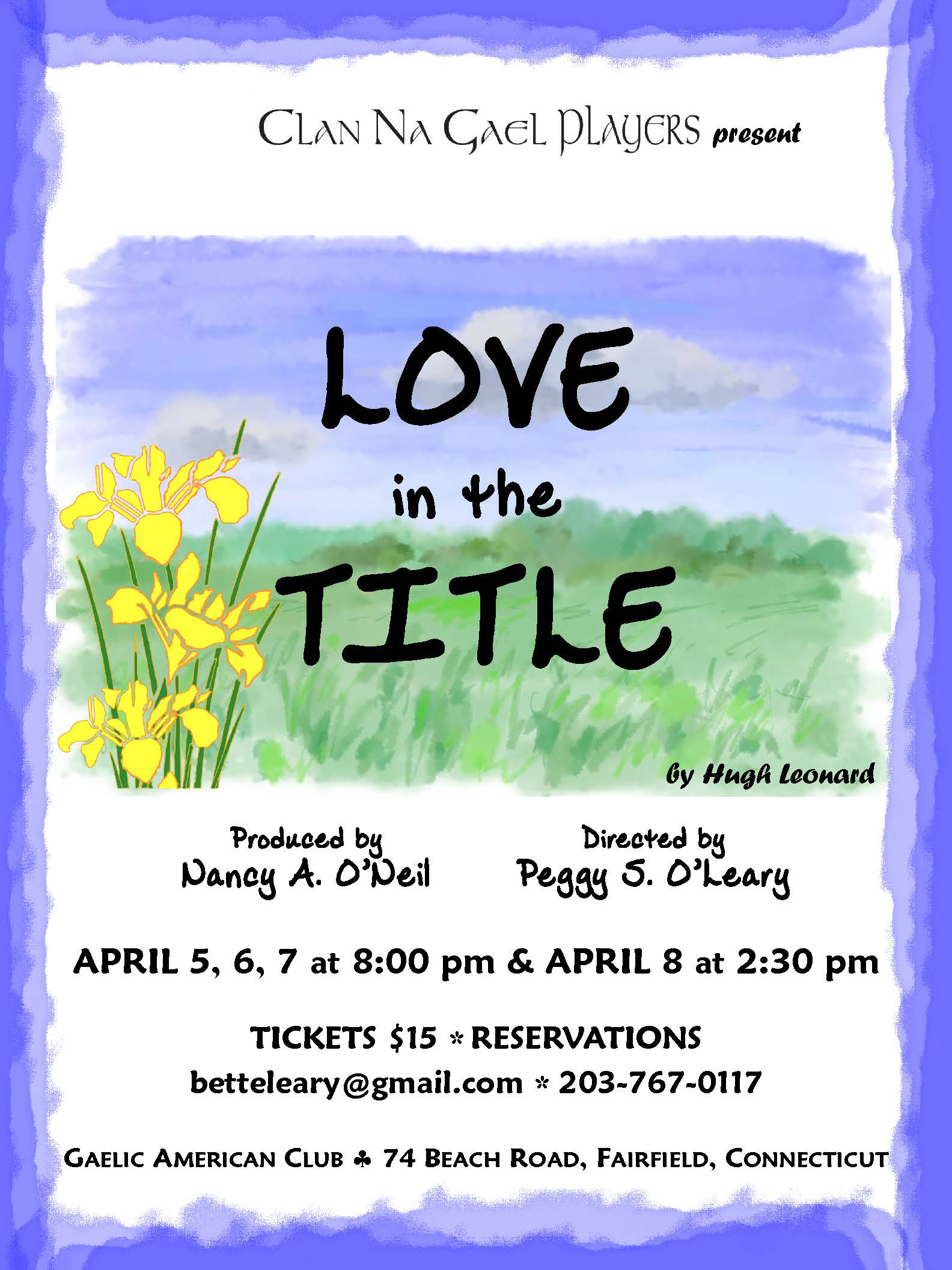 Love in the Title ~ April 5, 6, 7 & 8th.