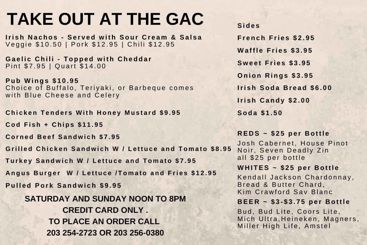 GAC Has Take Out