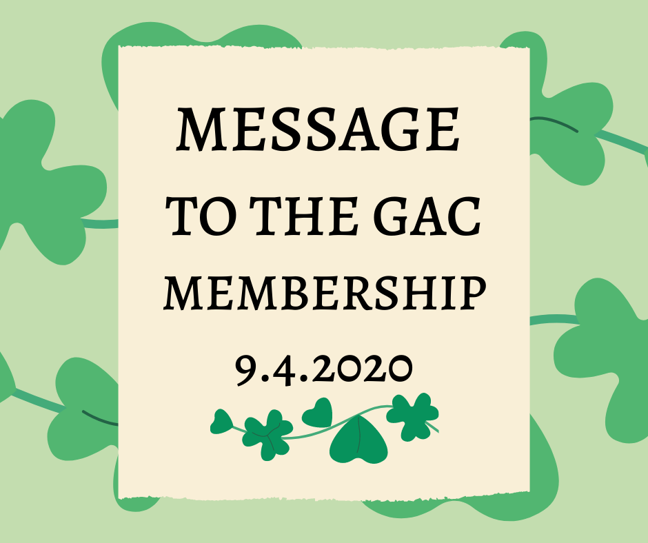 Message to The GAC Membership