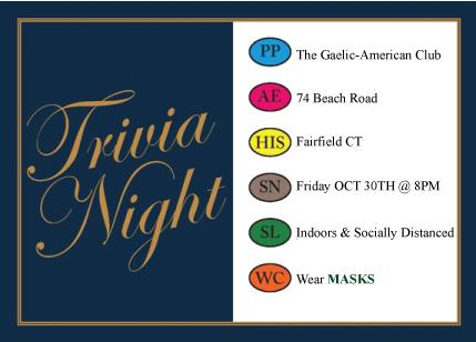 Trivia Night in the Carolan Room